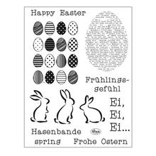 Qualitäts-Silikonstempel 14x18cm, Frohe Ostern