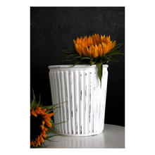 Vase im Vintage Look mit Chalky Finish glass