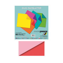 Faltbl�tter Duo-Col., 60Bl., 15x15cm, rosa-rot
