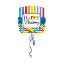 NEU Folienballon Happy B.day Stripe & Chevron 45cm
