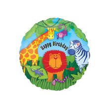 SALE Folienballon Wild Kingdom Birthday, ca. 45 cm