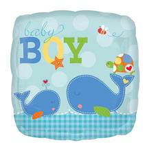 SALE Folienballon Ahoi! Baby Blue, ca. 45 cm