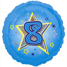 SALE Folienballon Blue Stars 8, 45 cm