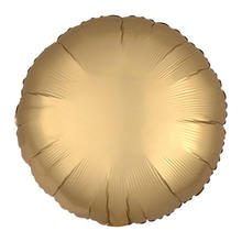 Folienballon Rund Satin Gold, ca. 45 cm