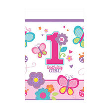 Tischdecke Sweet 1. Birthday Girl 1,3x2,4 m