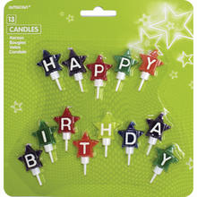 Kerzen-Set Happy Birthday Stars, 13 tlg.