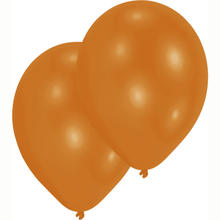 SALE Luftballon Metallic-Orange, 10er-Pack
