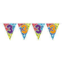 Mini-Wimpelkette Birthday Blocks 3, 3 m