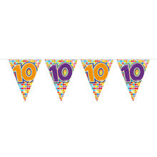 Mini-Wimpelkette Birthday Blocks 10, 3 m