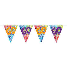 Mini-Wimpelkette Birthday Blocks 60, 3 m