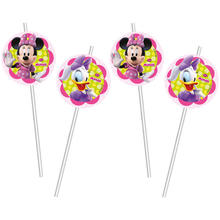 Trinkhalme Minnie Mouse, 6 St�ck