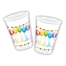 Becher HB Streamers, 200 ml, 8 Stk