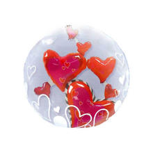 Luftballon Bubble Lovely Floating Hearts ca. 60 cm