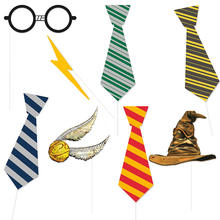 Foto Requisiten Verkleidung Accessoires - Photo-Booth-Set, Harry Potter Kindergeburtstag, 8-teilig