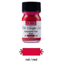 Old Script Ink 35ml, rot