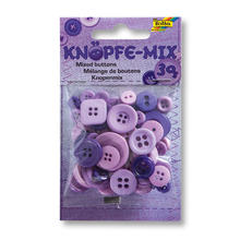 Knöpfe-Mix, 30 g, Ton in Ton Mix Lila