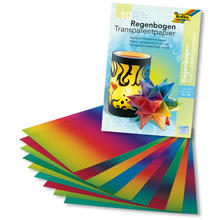 CMJ48759000-10X Regenbogen-Transparentpapier 10 Bogen 50 x 60 cm