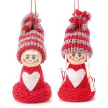 Winterkinder Figuren Set, 8 cm, Rot