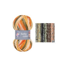 Strickgarn Sofia color, 50g Fb. 05, Earth