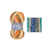 Strickgarn Sofia color, 50g Fb. 06, Exotic