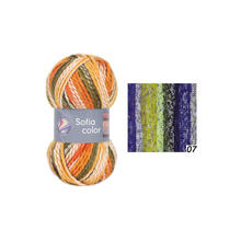 SALE trickgarn Sofia color, 50g Fb. 07, Island