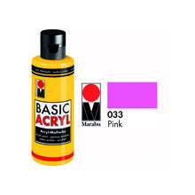 Marabu Basic Acryl 80ml,  Pink