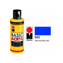 Marabu Basic Acryl 80ml,  Ultramarinblau dkl.