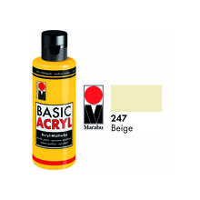 Marabu Basic Acryl 80ml, Beige