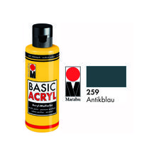 SALE Marabu Basic Acryl 80ml, Antikblau