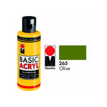 Marabu Basic Acryl 80ml, Olive
