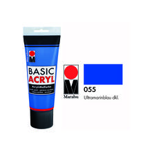 Marabu Basic Acryl 225ml, Ultramarinblau dkl.
