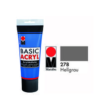 Marabu Basic Acryl 225ml, Hellgrau