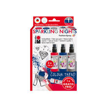 Marabu Fashion-Spray, 3x100ml, 'Sparkling Nights'