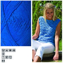 Häkelgarn ´Cotton Fun´, 50g, Fb. 10, Royalblau