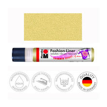 Marabu Fashion-Liner, 25 ml, Schimmer-Gold